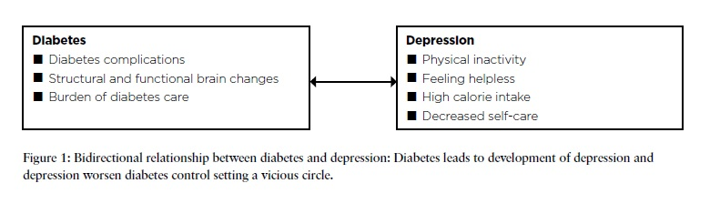 Figure 1 - Bidirectional relationship between diabetes and depression