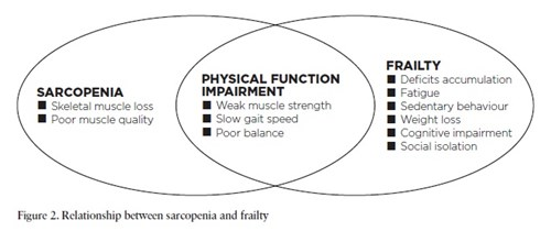 Figure 2. Relationship between sarcopenia and frailty