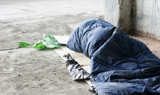 Homeless people are three times more likely to die after a heart attack