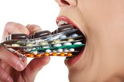 Antibiotics in mouth